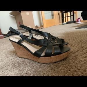 Guess wedge black sandal size 10